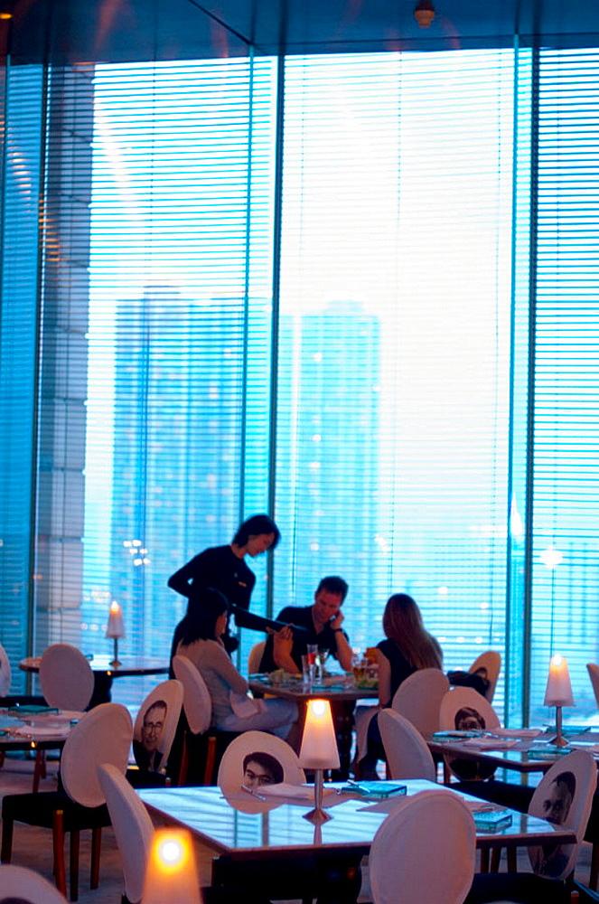 Felix Restaurant, designed by Philippe Starck at Peninsula Hotel, Hong Kong, China. - 817-22476