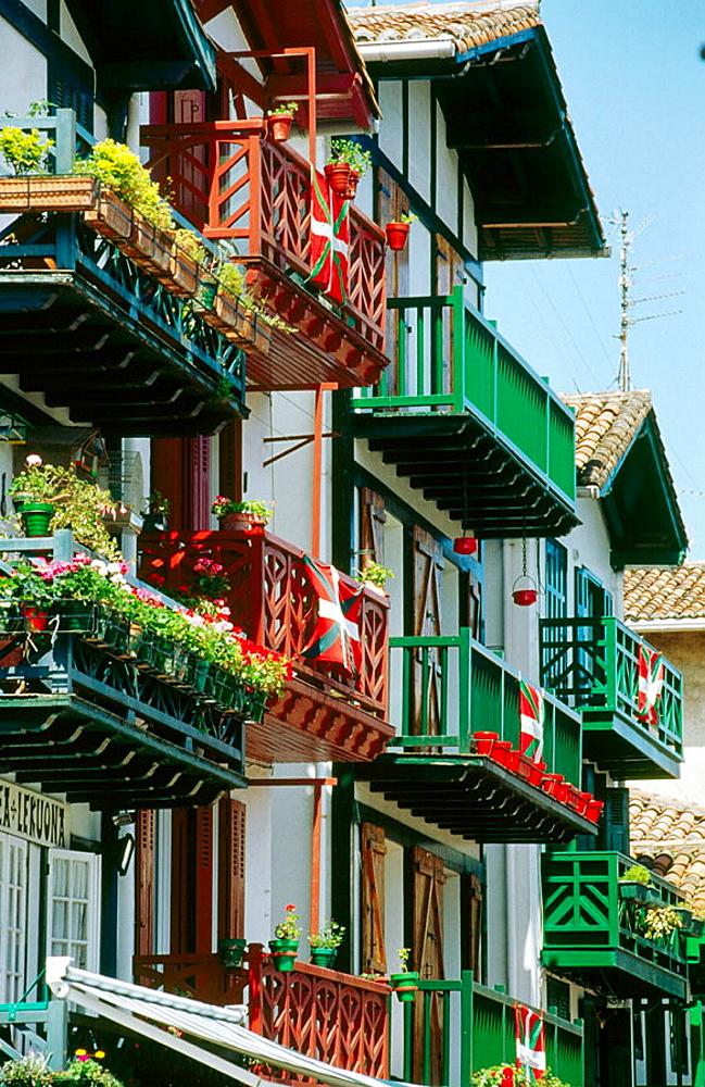 La Marina district, Hondarribia, Guipuzcoa, Euskadi, Spain