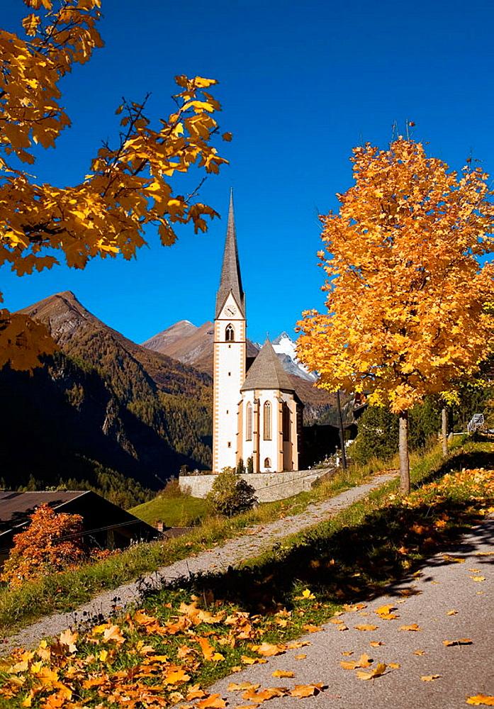 Heiligenblut resort in high Alps Austria