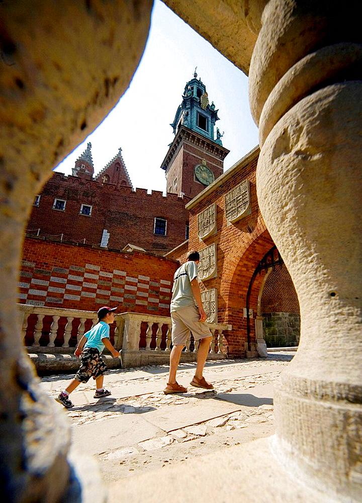 Poland, Krakow, Wawel, east entrance