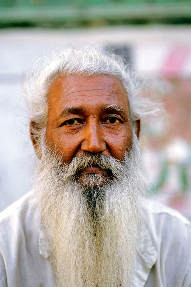 Old man portrait, Bikaner, Rajasthan, India.