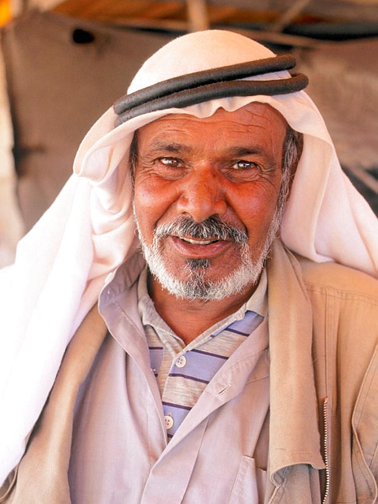 Beduin man portrait, Syria
