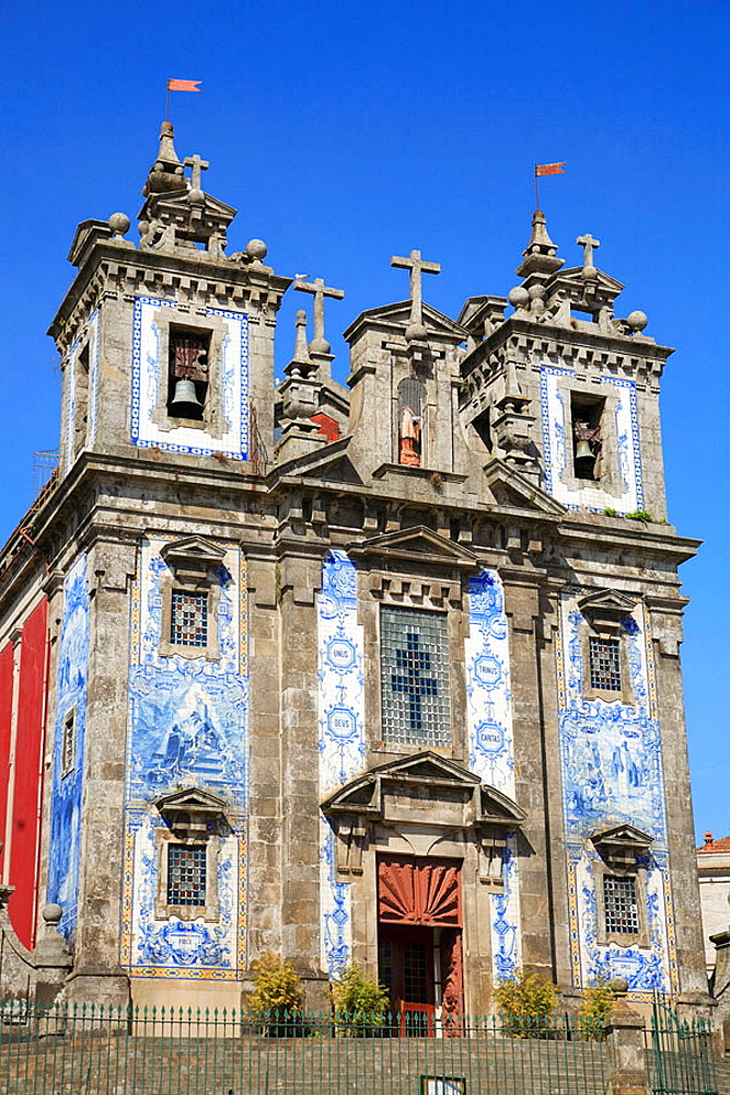 Portugal, Douro, Porto, San Ildefonso church