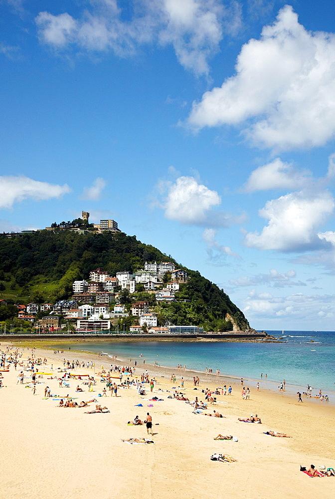 Playa de Ondarreta, Donostia, San Sebastian, Gipuzkoa, Euskadi, Spain.