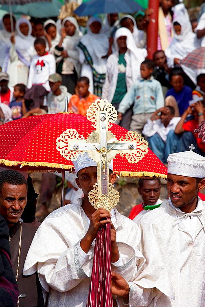 Africa Ethiopia Gonder Timkat festival. - 817-248950