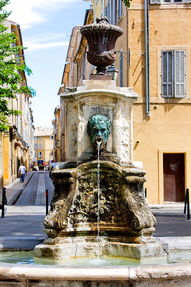 fountain, Aix-en-Provence, Provence, France
