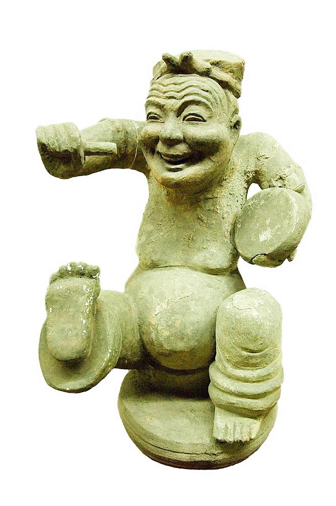Wu Hou Shrine, Chengdu, China Museum of The Three Kingdoms Culture Pottery figurine dancing for joy Han Dynasty