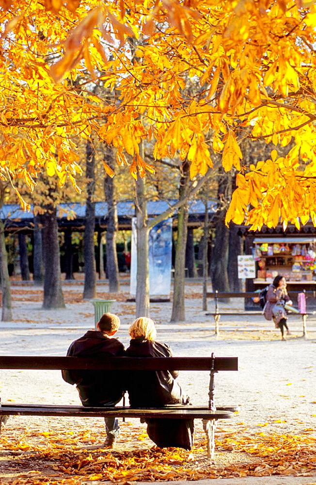 Jardins du Luxembourg at fall, Paris, France