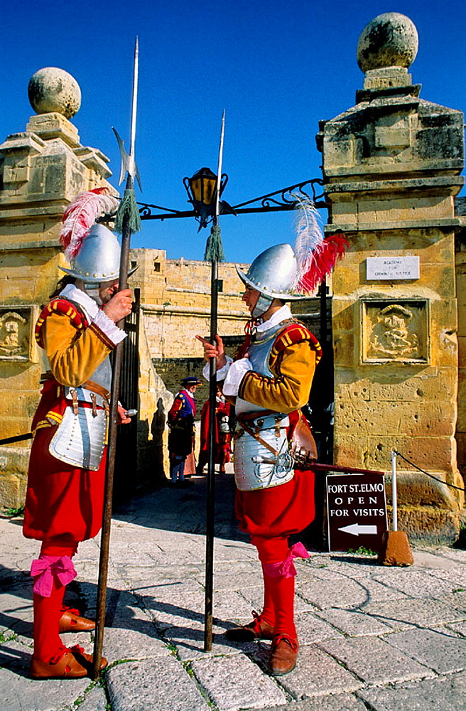 In Guardia, weekly historical reenactment, Saint Elmo's Fort, Valletta, Malta.