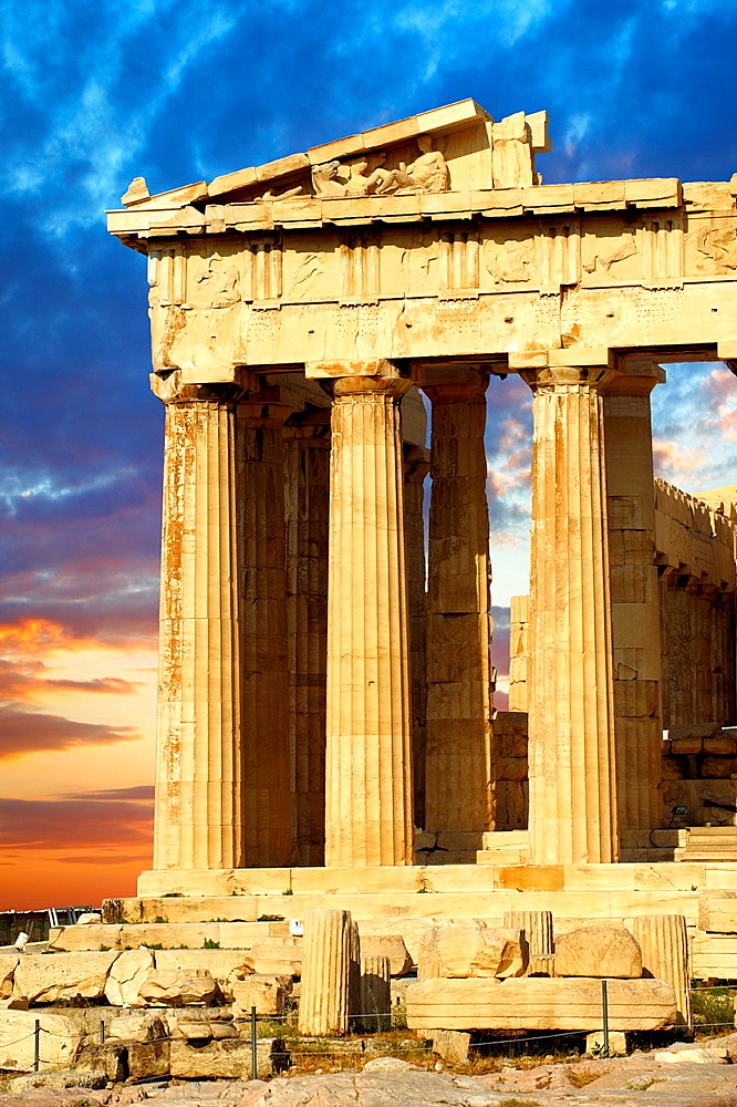 The Parthenon Temple, the Acropolis of Athens in Greece