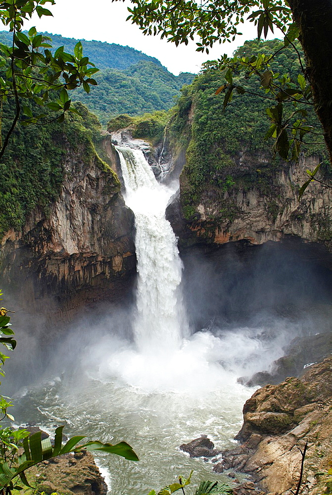 San Rafael Falls, the higest waterfall in Ecuador, between Baeza and Lago Agrio