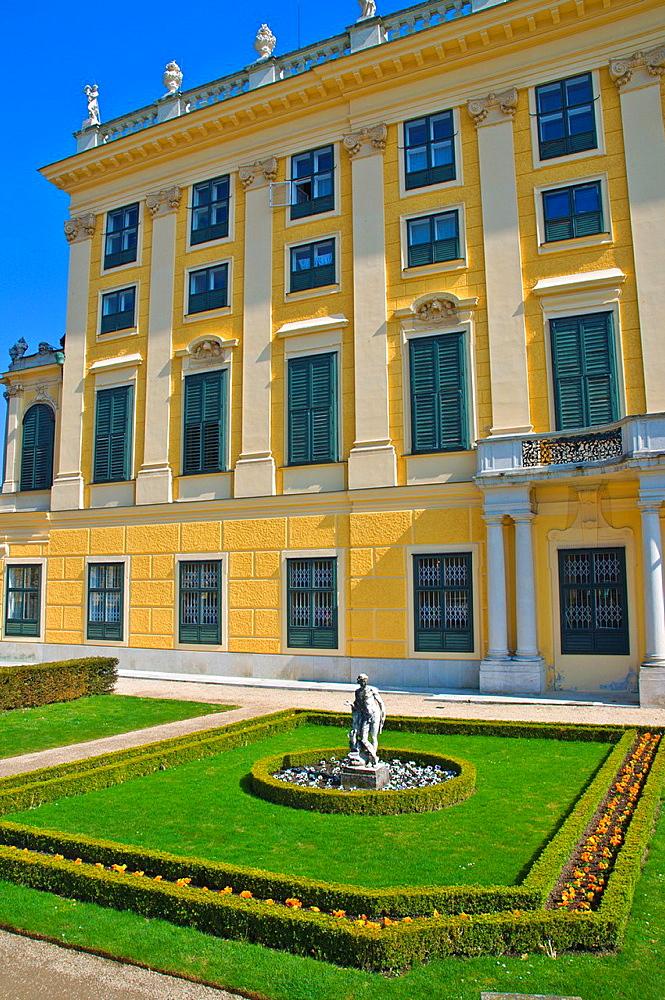 Schloss Schonbrunn palace exterior Vienna Austria central Europe