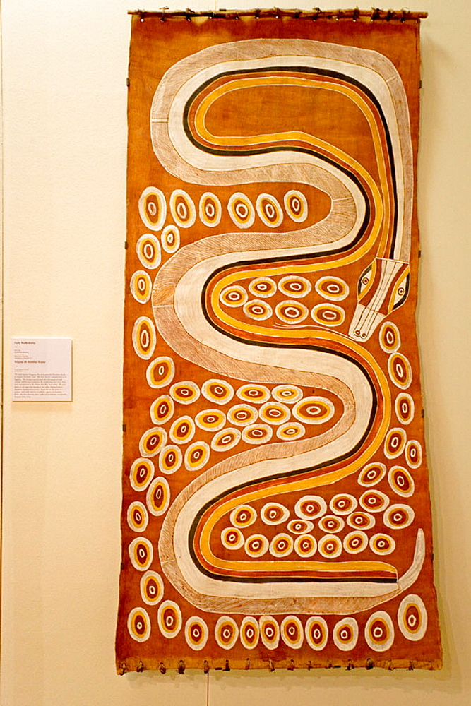 Museum & Art Gallery of the Northern Territory featuring particurlarly a collection of aboriginal art and stuffed animals, Darwin, Northern Territory,  Australia
