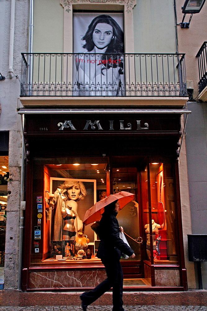 lingerie store, Reus, Catalonia, Spain.