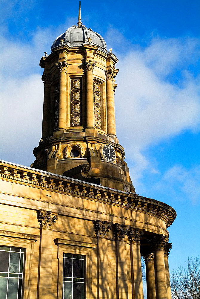 Church SALTAIRE WEST YORKSHIRE Saltaire United Reformed Church clock tower Titus Salts village