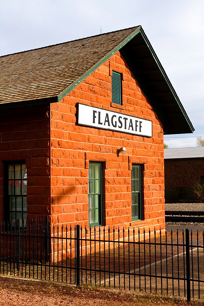 Flagstaff Train Depot on Route 66,Flagstaff, Arizona, USA