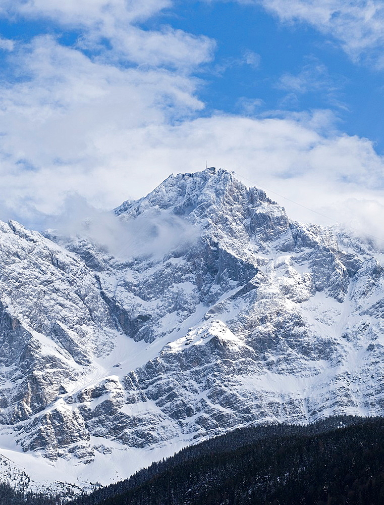 north face of Zugspitze, Germany´s highest mountain