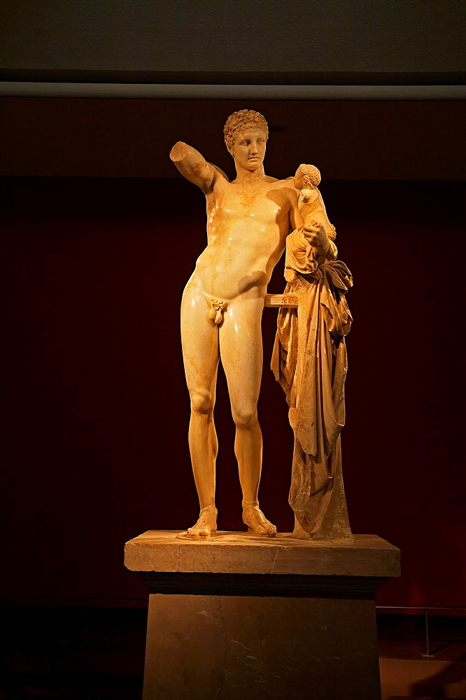 Hermes, Archeological museum, Ancient Olympia Peloponnese Greece