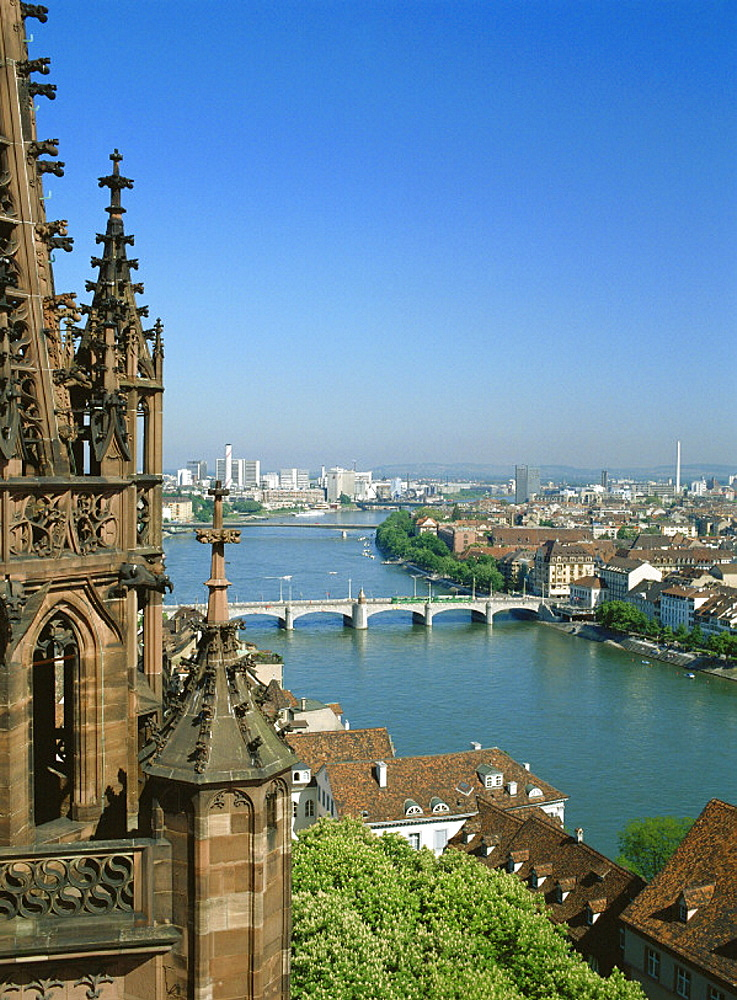 10092912, town, city, of Basel, Basle, Switzerland, Europe, view, from Munster, chemistry, Kleinbasel, Rhine, river, flow, Rhi. 10092912, town, city, of Basel, Basle, Switzerland, Europe, view, from Munster, chemistry, Kleinbasel, Rhine, river, flow, Rhi