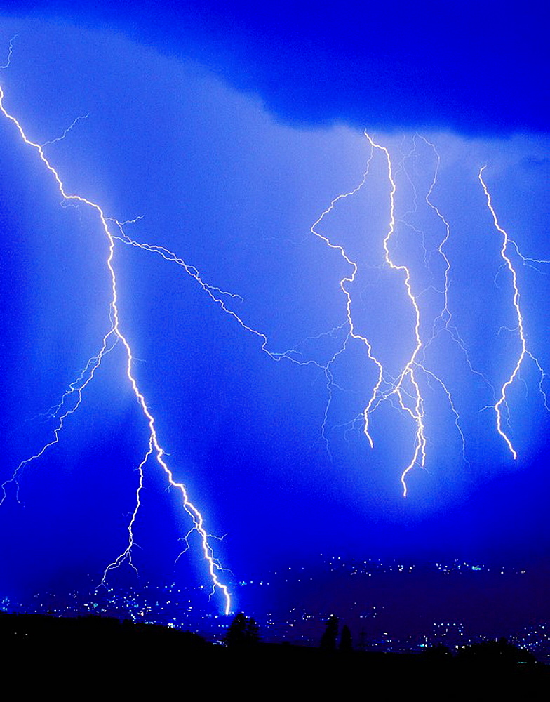 10334658, thunderstorm, flash, blue, night sky, lights, town, city, Austria, Europe, Innsbruck, . 10334658, thunderstorm, flash, blue, night sky, lights, town, city, Austria, Europe, Innsbruck,