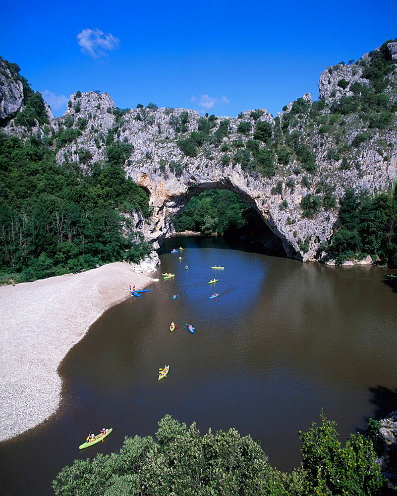 France, Europe, Pont darc, canoeist, people, canoeing, sailing, rowing, down, Ardeche river, water, sports, natural, . France, Europe, Pont darc, canoeist, people, canoeing, sailing, rowing, down, Ardeche river, water, sports, natural,