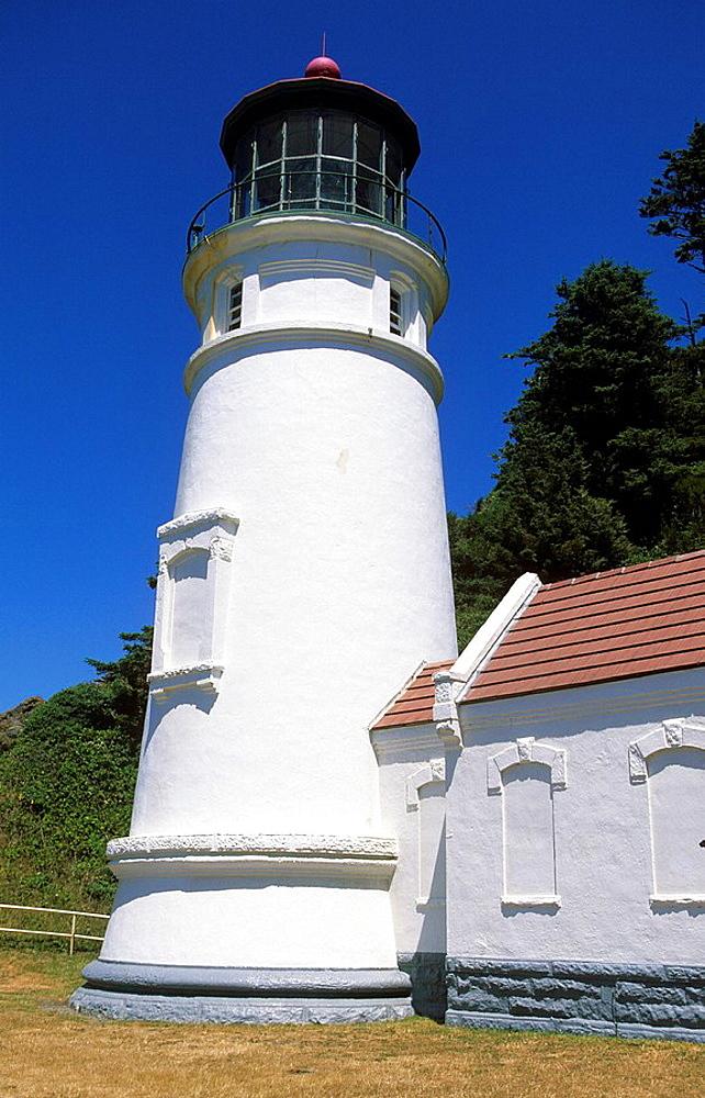 USA, Oregon, Pacific coast, ocean, lighthouse, Hec. USA, Oregon, Pacific coast, ocean, lighthouse, Hec