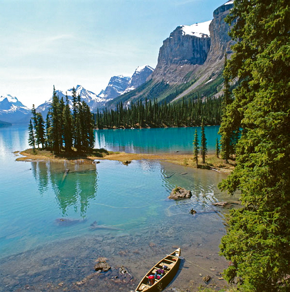 Spirit Island and Maligne Lake, Jasper National Park, Alberta, Canada