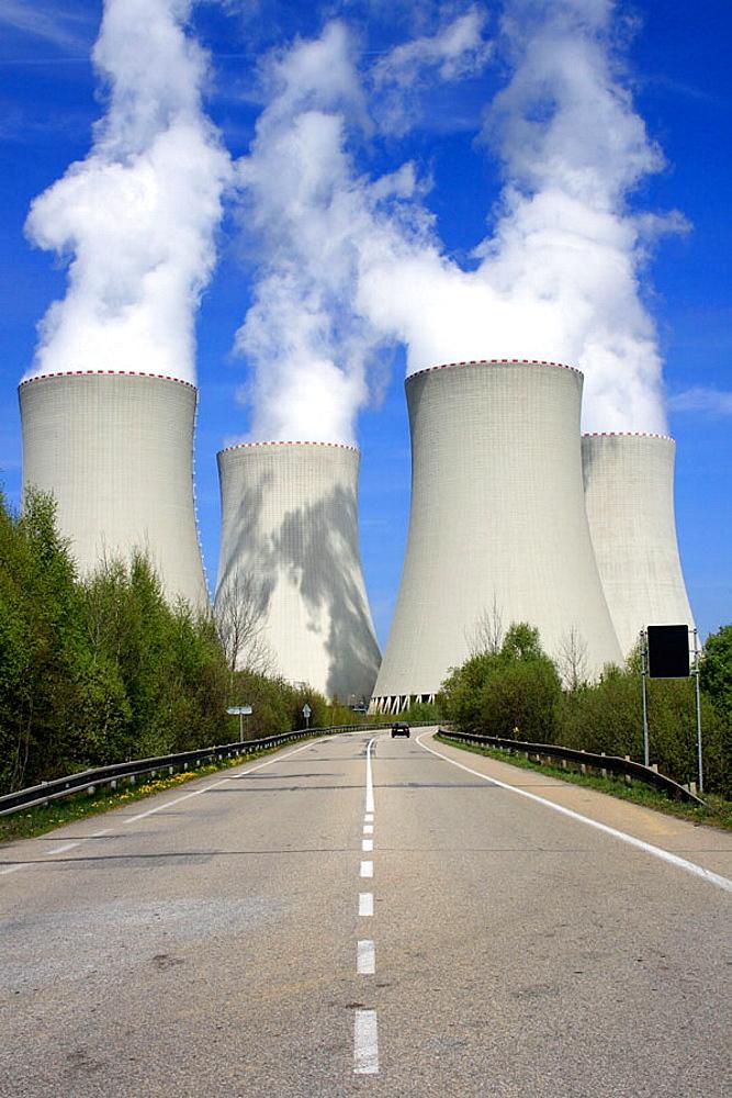 Nuclear power station, Temelin, District of Budweis, South Bohemia, Czech Republic