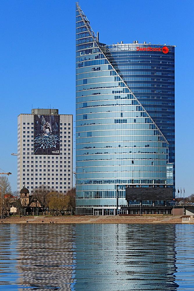 Swedbank Central Building, Riga, Latvia. Swedbank Central Building, Riga, Latvia