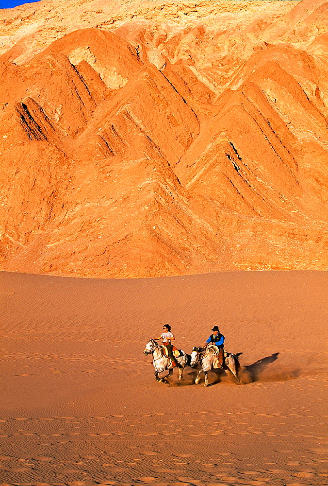 Horse Riding Valley of the Death. Atacama Desert, Antofagasta Region, Chile.