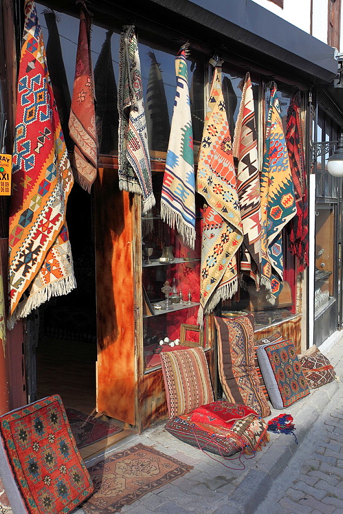 Turkey, Ankara, Ulus, carpet shop,