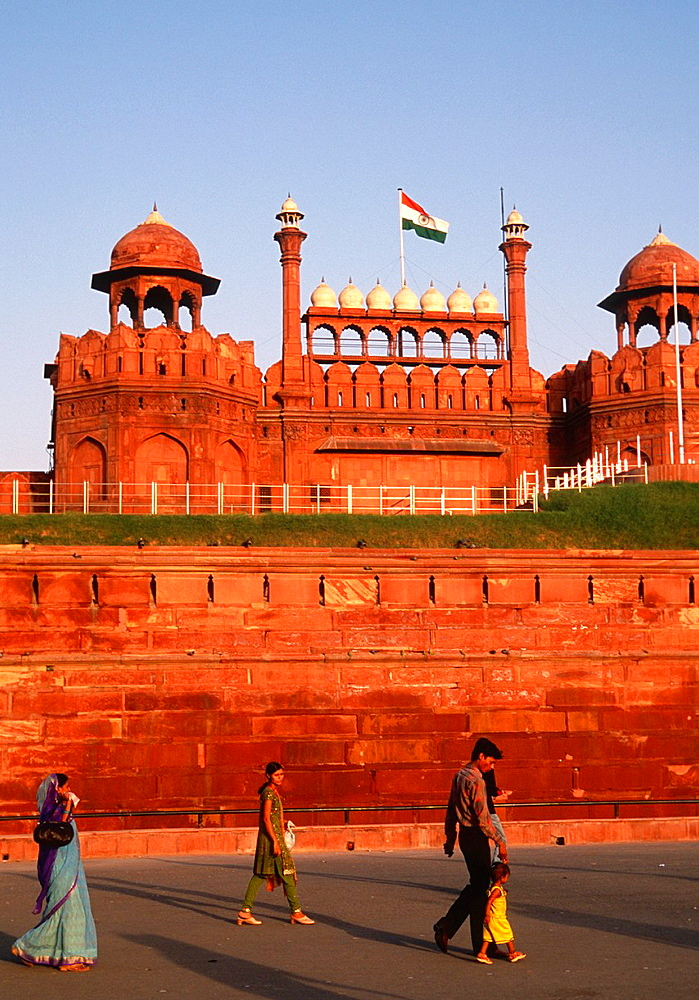 India, Delhi, Red Fort, Lahore Gate,