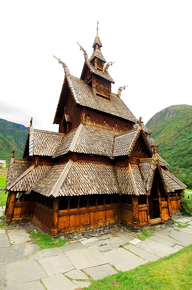 World famous old Stave Church in Norway