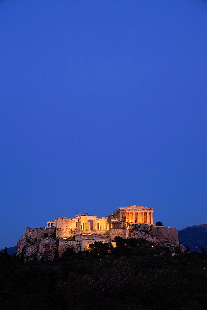 The Parthenon and the Acropolis, Athens, Greece