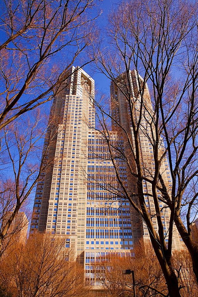 Metropolitan government of tokyo building, Shinjuku district, Tokyo, Japan, Asia