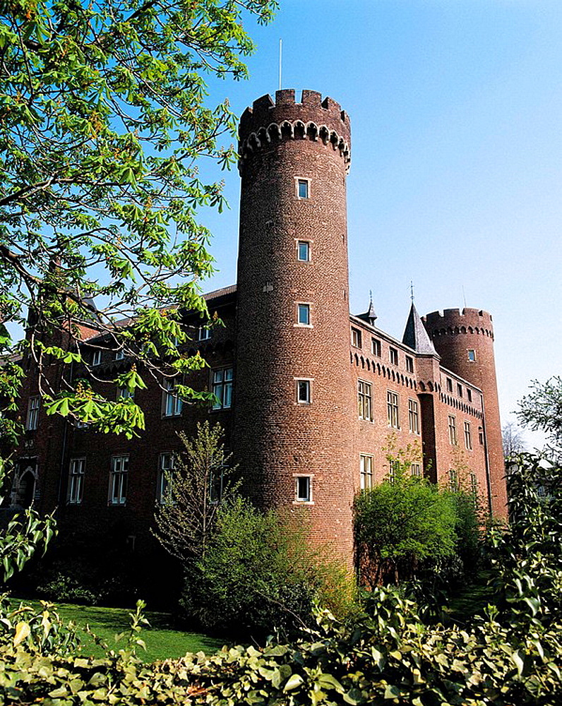 Germany, Kempen, Niers, Lower Rhine, North Rhine-Westphalia, castle Kempen, neo-Gothic, municipal archives and district archives