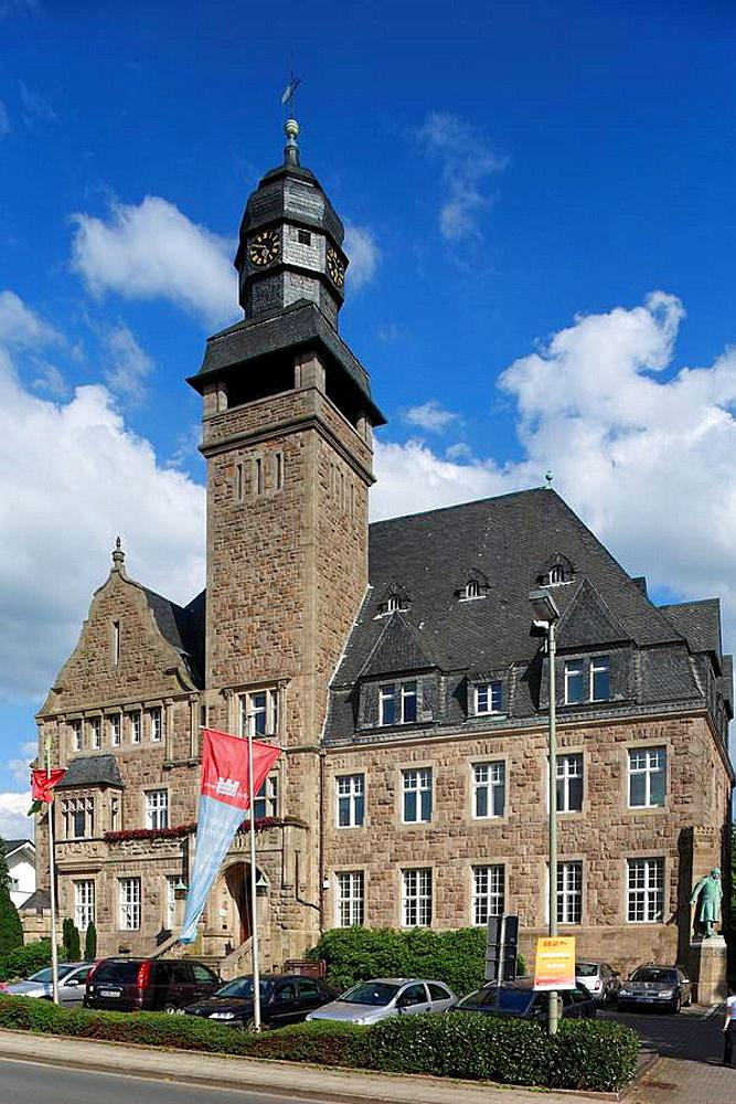 D-Wetter Ruhr, Ruhrgebiet, Nordrhein-Westfalen, Rathaus, Renaissance, Ruhrsandstein, Route der Industriekultur, D-Wetter Ruhr, Ruhr area, North Rhine-Westphalia, city hall, renaissance, Ruhr sandstone, Route of Industrial Heritage *** Local Caption *