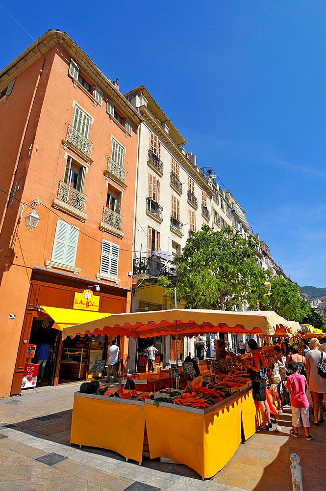 Farmers Market Display Open Air Toulon France French Riviera Mediterranean Europe Harbor