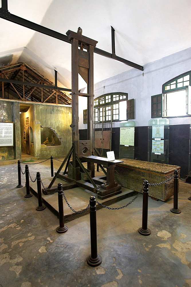 Guillotine infamous French and Vietnamese Hoa Lo prison also called the Hanoi Hilton Vietnam