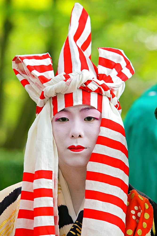 A costumed participant in the Jidai Matsuri - 817-346895