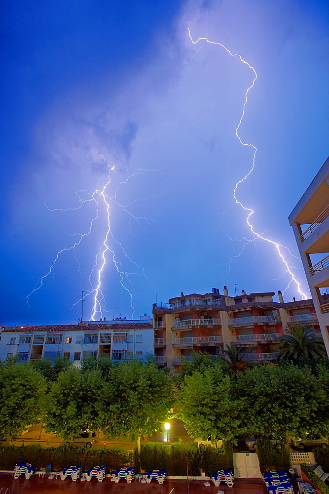 Lightning storm Salou, Catalonia, Spain