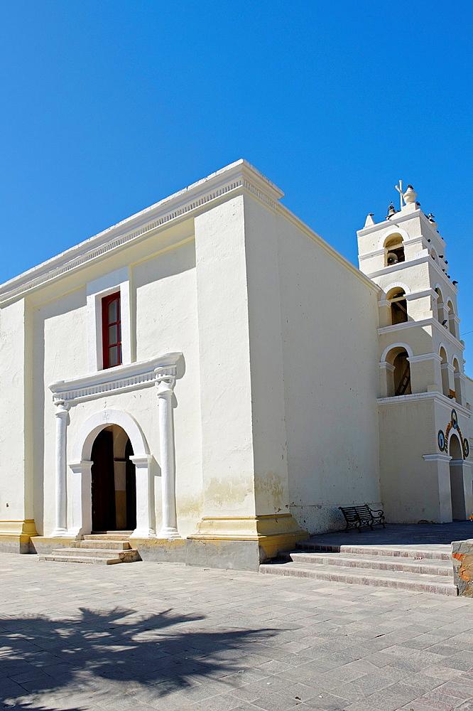 Mission of Santa Rosa. Todos Santos town. Pacific coast side of the peninsula. Baja California. Mexico.