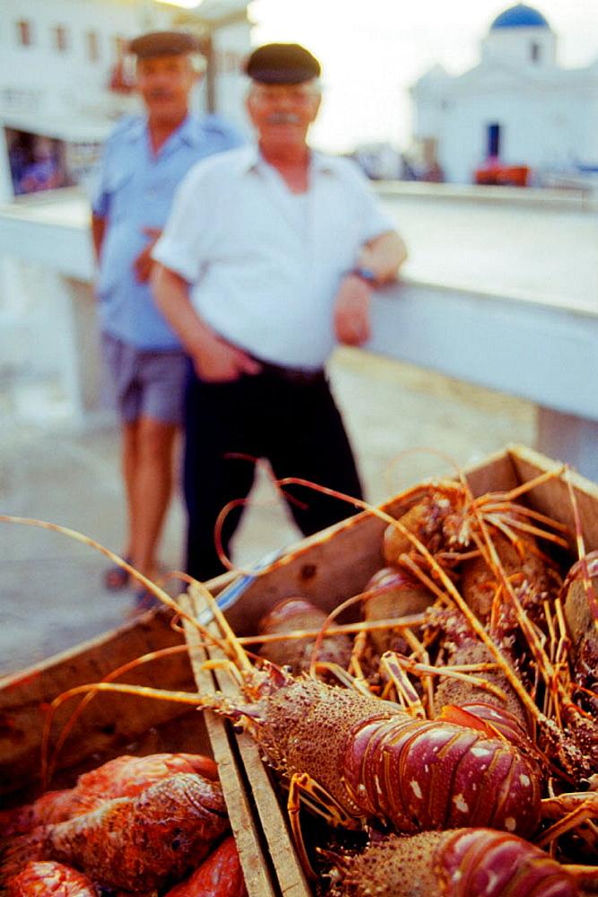 Fishermen, Mikonos, Cyclades Islands, Greece