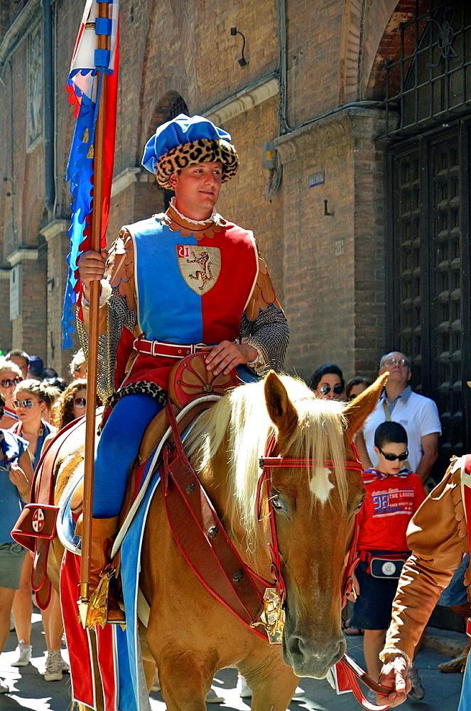 Palio parade, Siena, Tuscany, Italy