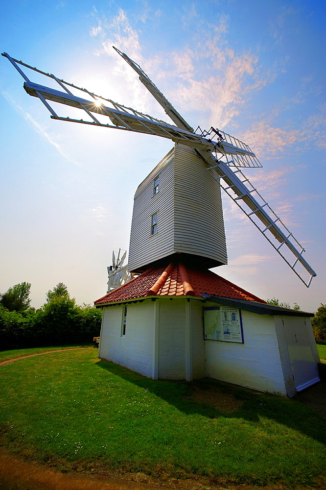 Wooden windmill at Thorpeness village - Suffolk - England