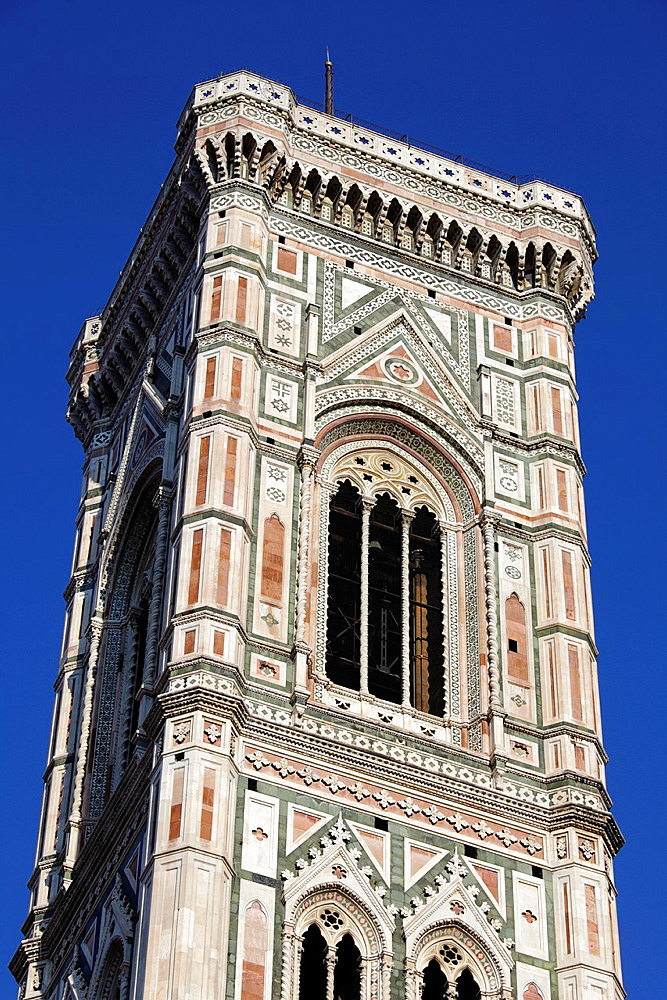 Giotto bell tower and Santa Maria del Fiore Cathedral, Florence, Italy