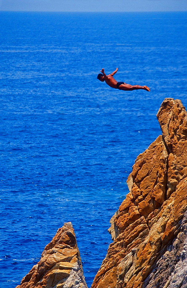 Cliff Diver of Acapulco, Mexico