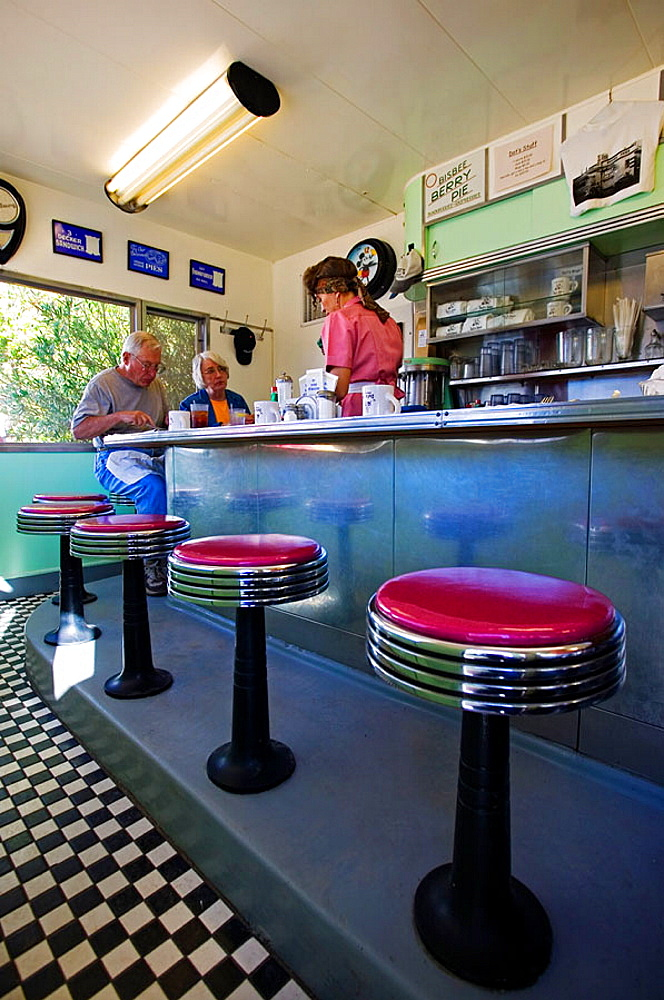 Dot's Diner at Shady Dell motel, all vintage car trailer motel, Bisbee, Arizona, USA