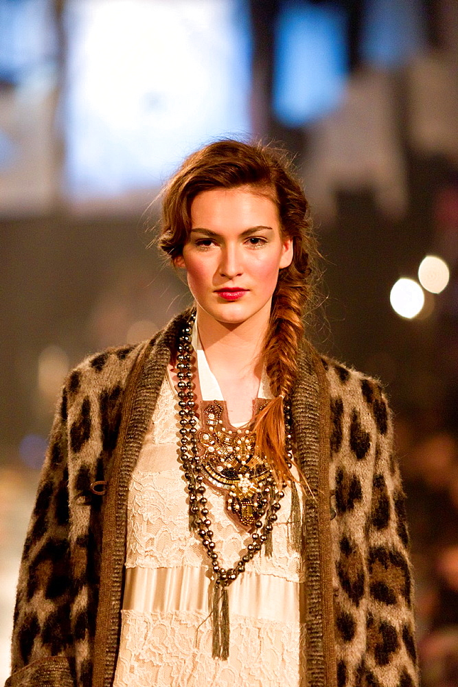 Models on catwalk at fashion show, Icelandic Design, Reykjavik, Iceland