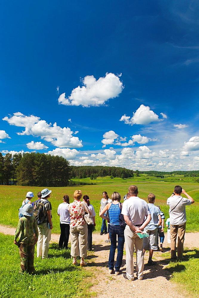 Russia, Pskovskaya Oblast, Pushkinskie Gory, visitors, NR, to Mikhailovskoye, the Alexander Pushkin Preserve, estate of famous Russian poet